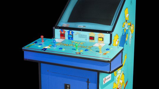 The Simpsons arcade cabinet