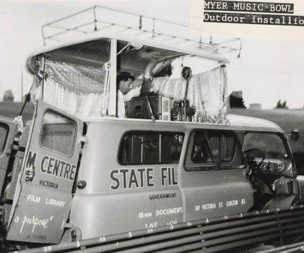 State film centre library bus oblique