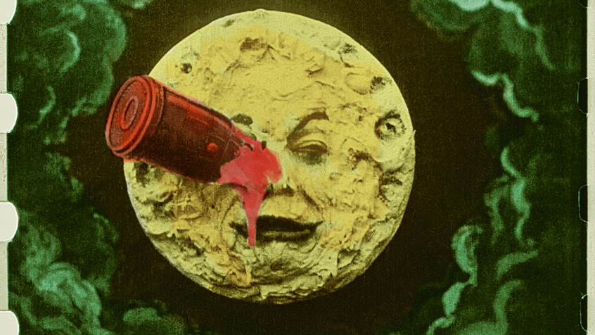 Trip to the moon colourised
