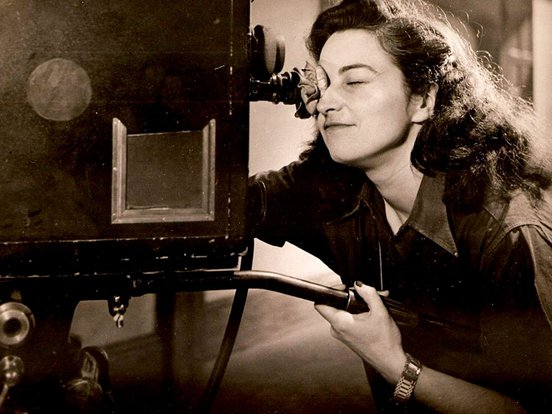 Jacqueline Audry looking into a camera
