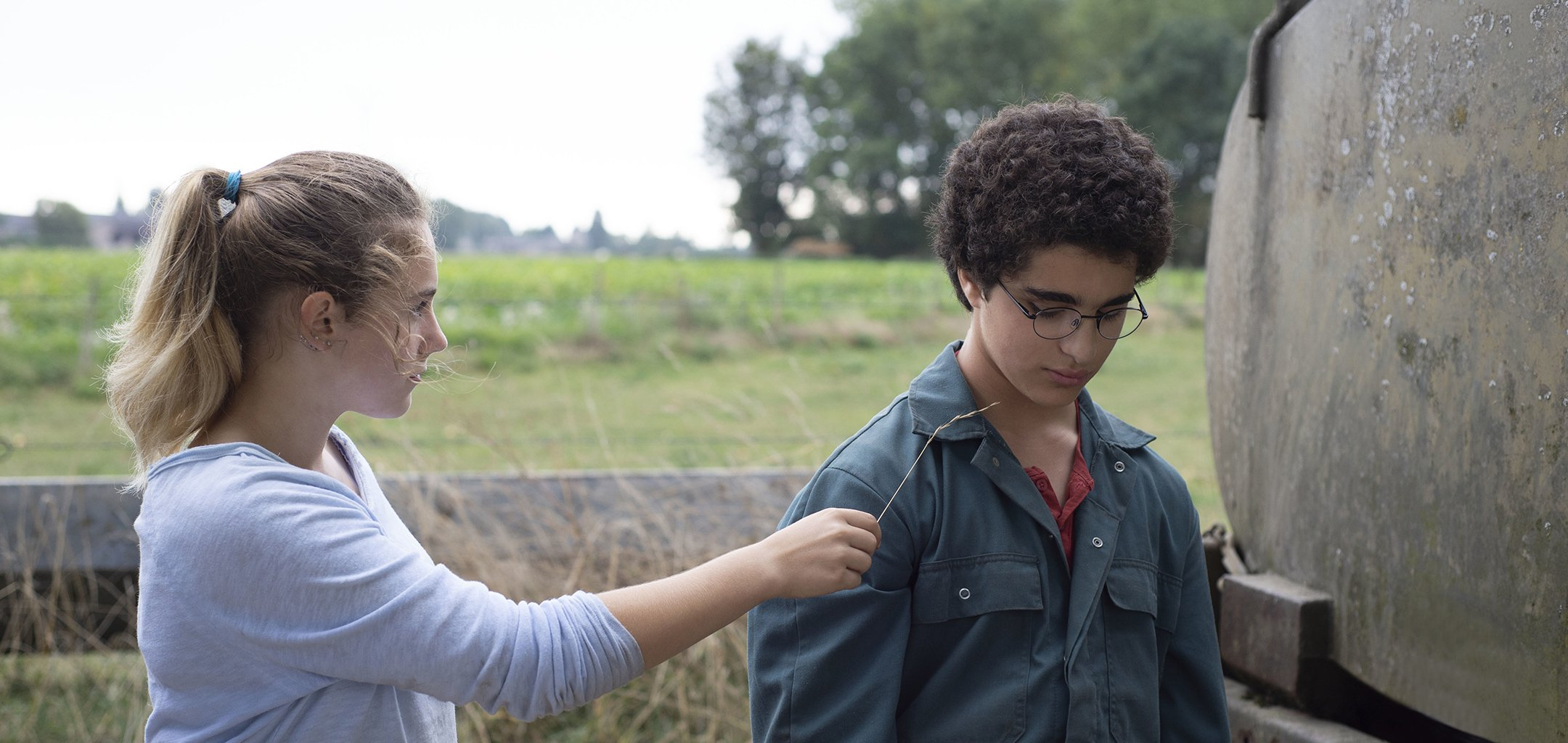 Idir Ben Addi and Victoria Bluck in a still from Young Ahmed (2019)